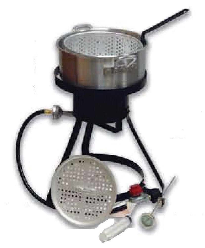 Cajun injector 10 qt aluminum classic fish fryer 01705 ebay for Fish fryer pot