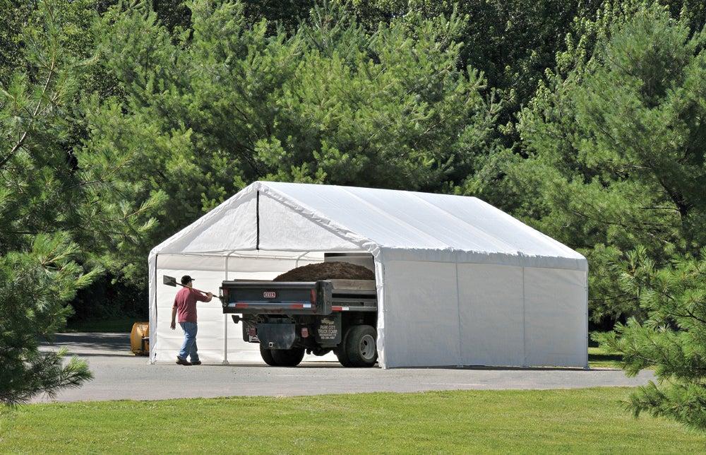 ShelterLogic 18 Ft. X 20 Ft. White Canopy Enclosure Kit 26775