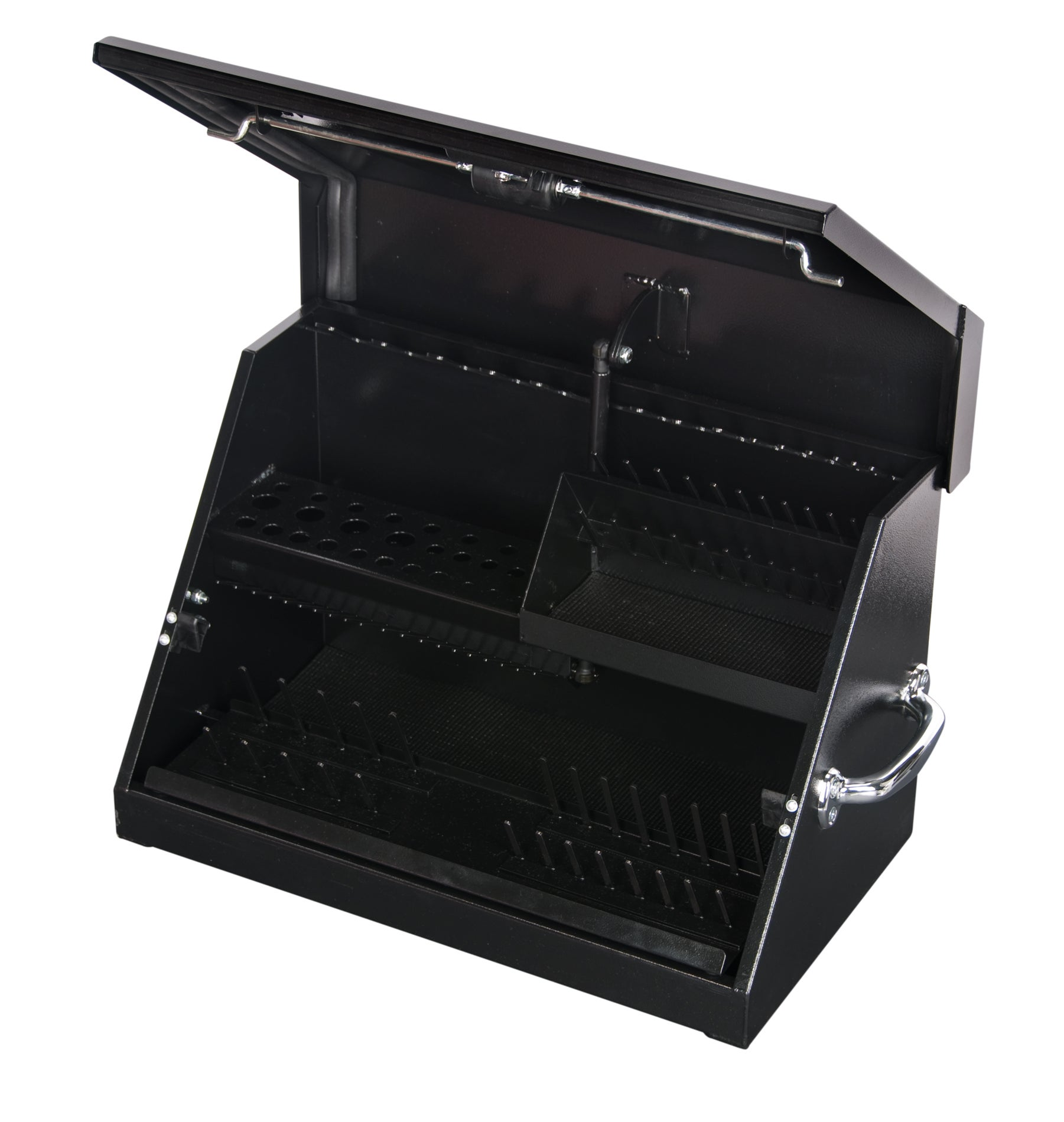 Montezuma professional portable black tool box small 22 1 for Quality craft tool box