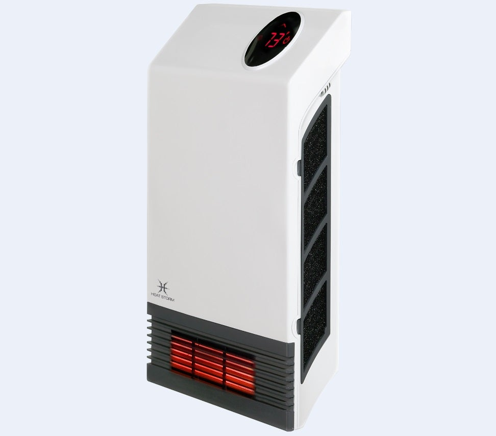 Heat Storm Deluxe Wall Quartz Infrared Heater 3 100 Btu Hs