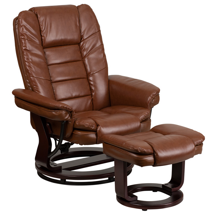 Flash Furniture Leather Recliner Amp Ottoman W Swiveling