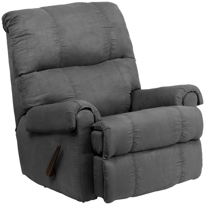 Flash Furniture Contemporary Flatsuede Microfiber Rocker Recliner WM-8700-11  sc 1 st  eBay & Flash Furniture Contemporary Flatsuede Graphite Microfiber Rocker ... islam-shia.org