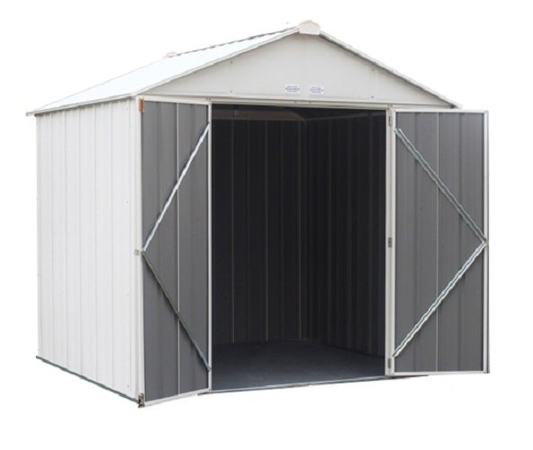 ezee shed 8 x 7 storage shed in cream ez8772hvcr - Garden Sheds 7 X 14