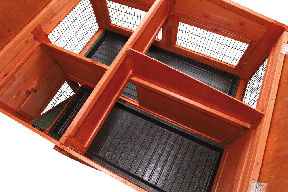 Trixie pet rabbit hutch with attic extra large 62324 for Extra large rabbit cage