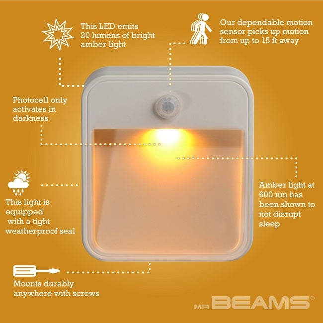 Mr Beams Wireless Motion Sense Led Amber Stick Anywhere