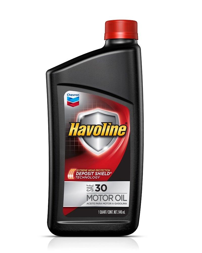 Havoline 30 wt motor oil provides outstanding protection for 30 weight motor oil