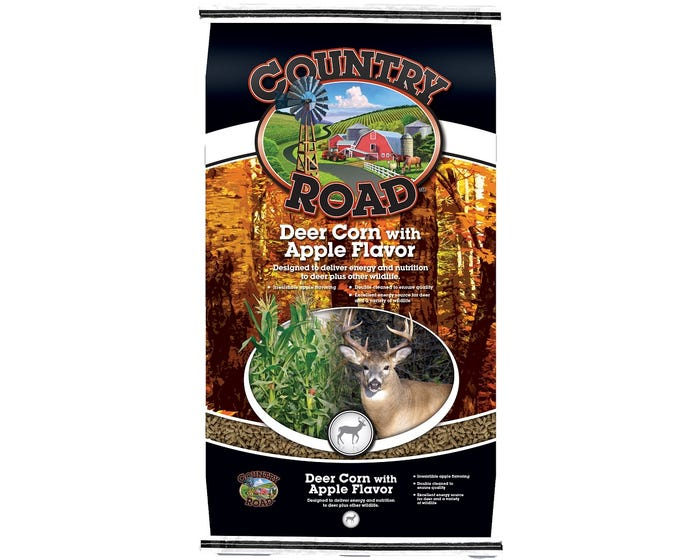 Country Road Apple Flavored Deer Corn, 50lb. - 1194