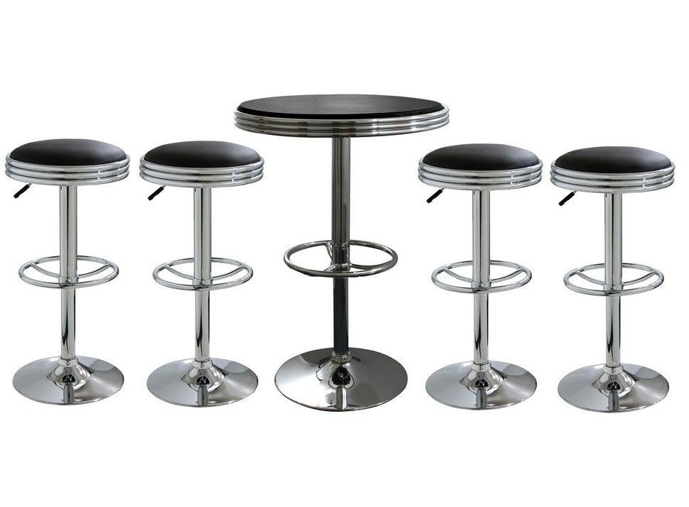 Amerihome 5 Piece Soda Fountain Style Bar Set Bsset6 Ebay
