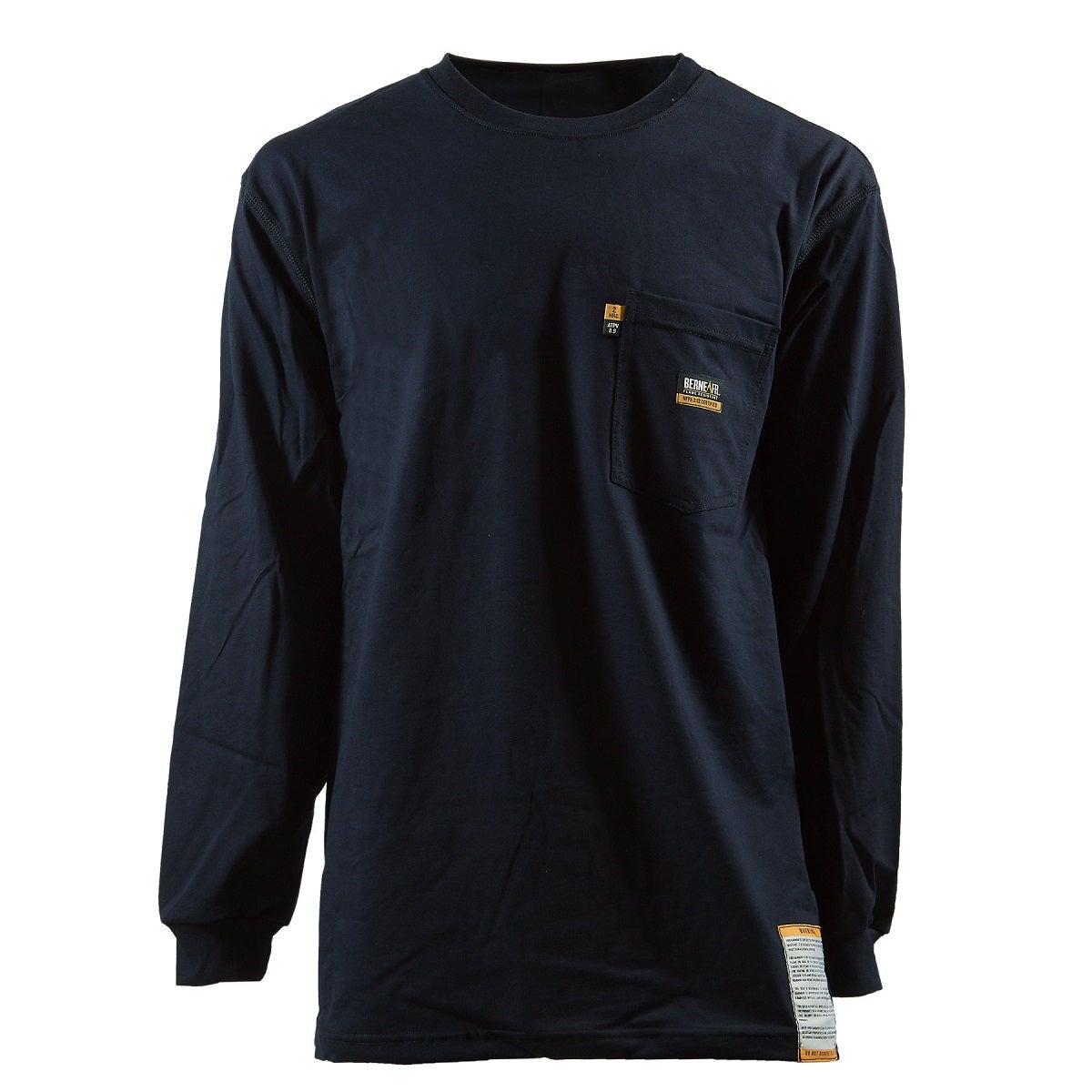 Berne Men 39 S Flame Resistant Crew Neck Long Sleeve T Shirt