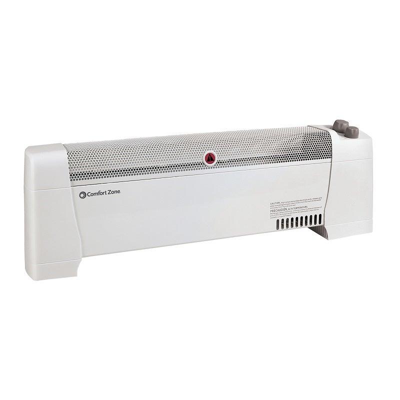 Comfort Zone Silent Portable Baseboard Heater 750 1500