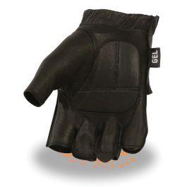 SH442 Men's Full Panel Fingerless Gloves w// Gel Palm Milwaukee