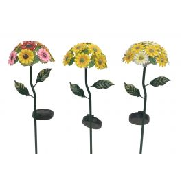 Assorted Alpine Solar Daisy Bouquet Stakes With Led Lights