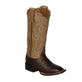 6c453596f4d Lucchese Women's Annalyn Cafe Caiman Crocodile Leather Boots M4942