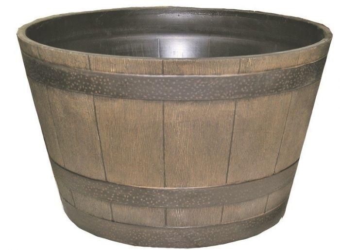22 Inch Resin Whiskey Barrel Planter