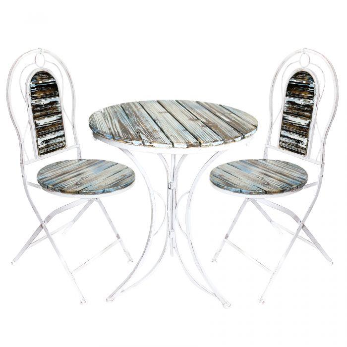 Outstanding Alpine Metallic Patio Garden Table And Chair Set With Rustic Finish Mzp278A Spiritservingveterans Wood Chair Design Ideas Spiritservingveteransorg