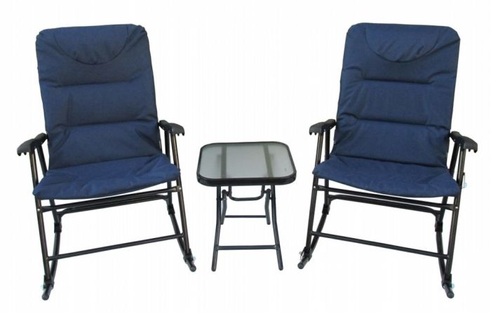 3 Piece Padded Rocking Chair Set Wdb Rcs Rk