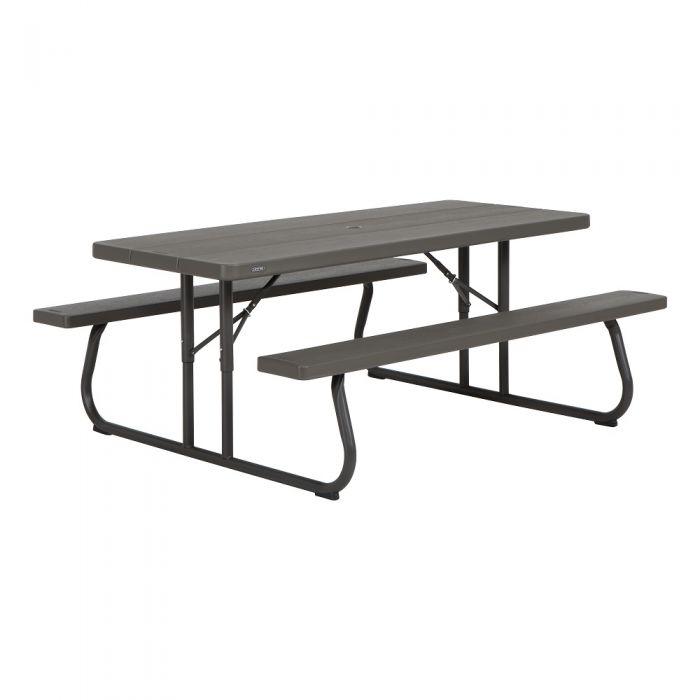 Lifetime 6 Folding Picnic Table.Lifetime Products 6 Foot Folding Picnic Table 60110