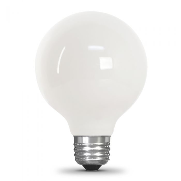Feit Electric 40w Equivalent Soft White G25 White Dimmable Led Enhance Globe Glass Filament Light Bulb Bpg2540w927ca Fil Rp