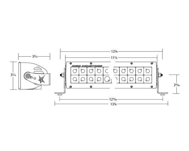Rigid Industries 17831 E2-Series 10 Driving//Hyperspot Combo LED Light Bar