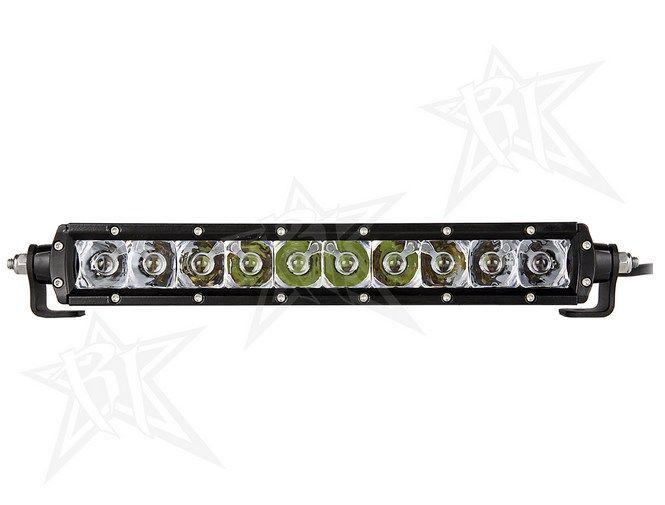 "Rigid Industries 91011 10/"" SR Series White Flood LED Single Row Light Bar"