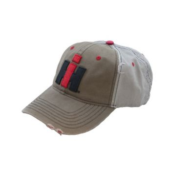 new arrival 903f6 38457 IH Mens Tan And Grey Embroidered Cap 16IH092