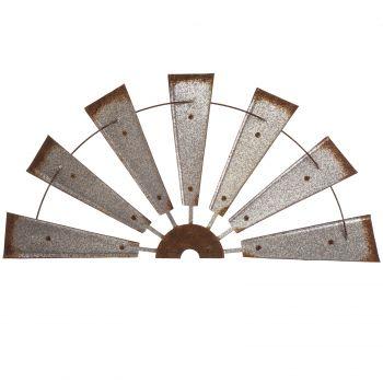 Galv Farmhouse Half Wind Spinner JK37027R