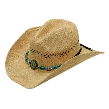 Nocona Raffia Bead   Crystal Straw Cowgirl Hat 71040 2f505967d0c
