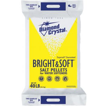 Diamond Crystal 40 Lb Bright Sofoot Salt Pellets For Water Sofooteners 100012407