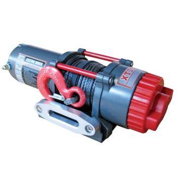 detail k2 c3500xt 12v synthetic rope atv/utv electric winch 350xa12-cad