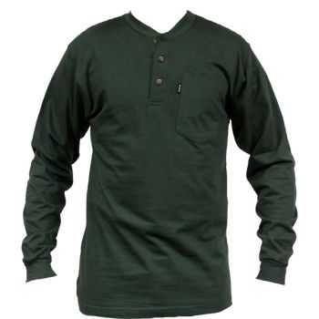 a25f946dbf59 Key Industries Men's Heavyweight Pocket Henley Long Sleeve T-Shirt 865