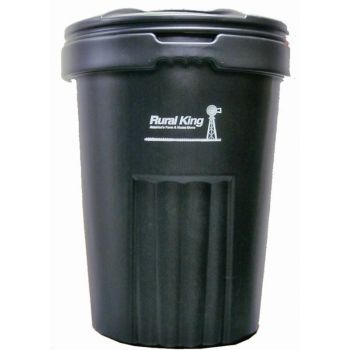 Rural King 32 Gal Plastic Garbage Can With Lid 30prk