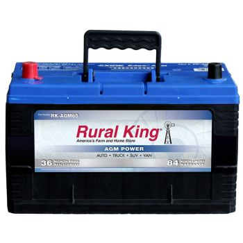 Auto Batteries Accessories Automotive ATV All. Rural King Automotive Agm Group 65 Battery Rkagm65. Wiring. Gem Car Battery Wiring Diagram 72 Volts 9 Batteries At Scoala.co