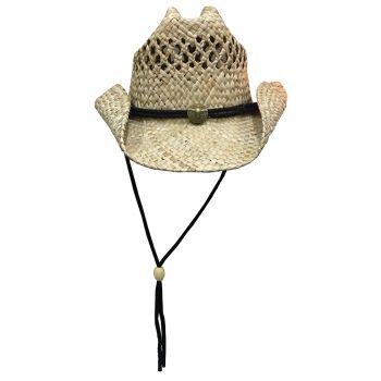 Dorfman Pacific Seagrass Straw Western Hat (TSCMS46os) febb3807334