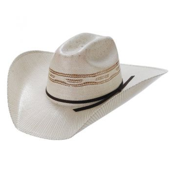 d700e537 Twister Men's Bangora Straw Two-Cord Cowboy Hat (T71627)