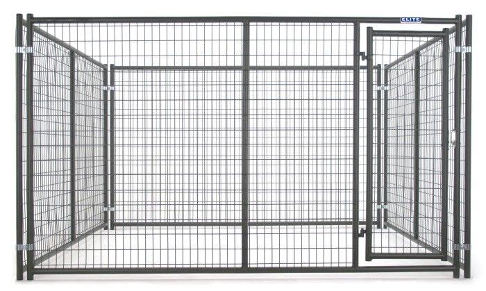 Tarter 6\' x 5\' Heavy Duty Dog Kennel Front Panel with Door DKFHDG5