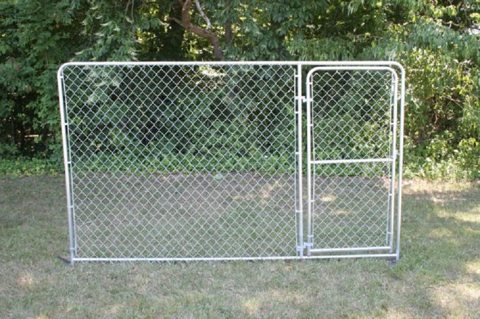 Stephens Pipe and Steel Dog Kennel Panel 10\'w X 6\'h Gate Panel DKS21006