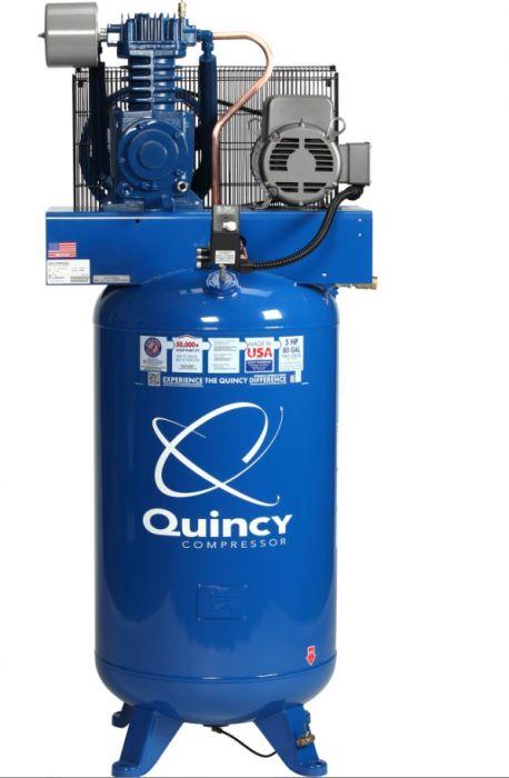 quincy qt 5 vertical 80 gallon 5hp 2 stage air compressor 251cp80vcb rh ruralking com Air Compressor Wiring Diagram Compressor Motor Wiring Diagram