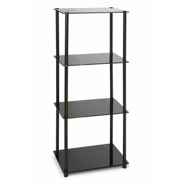 Convenience Concepts Midnight Classic Black Glass 4-Tier Tower ...