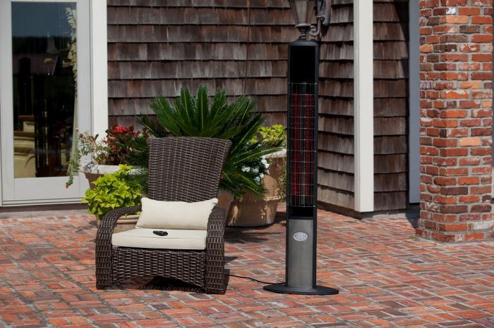 Skip To The Beginning Of The Images Gallery. Details. Our Aspen Tower Floor  Standing Halogen Patio Heater ...