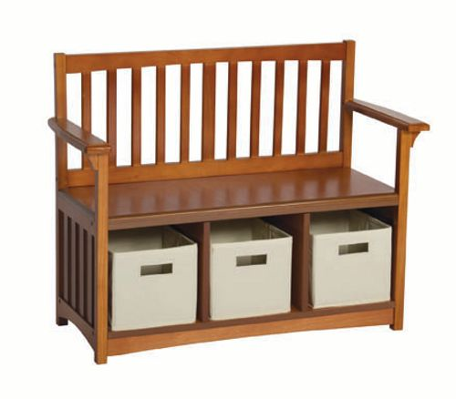 sc 1 st  Rural King & Guidecraft Mission Collection Storage Bench with Cloth Bins G86407