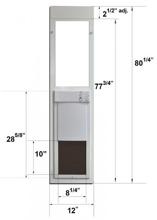 High Tech Pet Power Pet Electronic Patio Pet Door For Sliding Glass