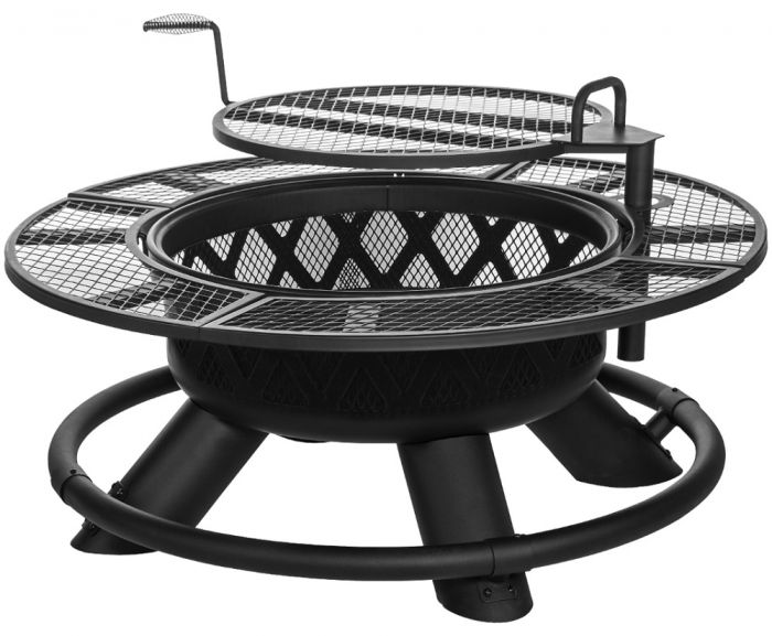 Ranch Fire Pit With Grilling Grate SRFP - Octagon fire pit grill table