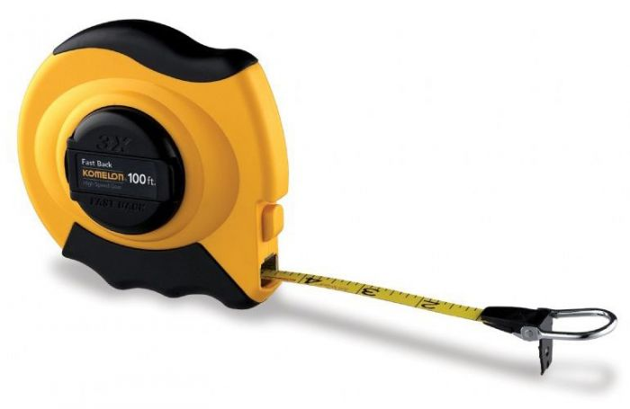 Komelon 100 ft Steel Fast Back Tape Measure 9201