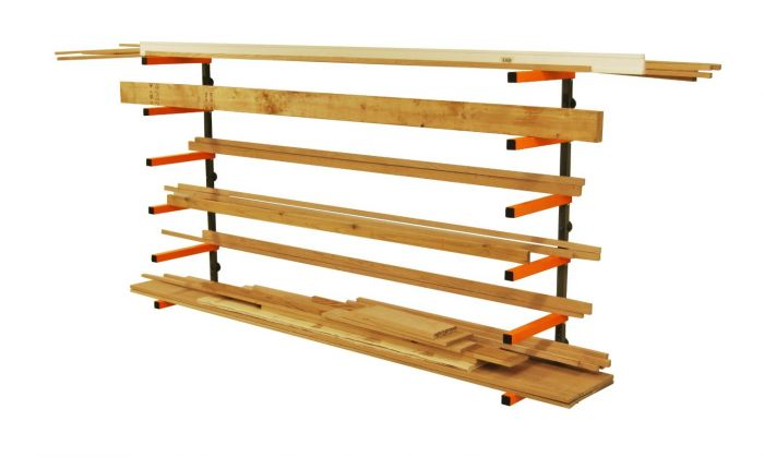 Portamate Six Level Wall Mount Wood Storage Rack, Supports 100 Lbs Per  Level (PBR 001)