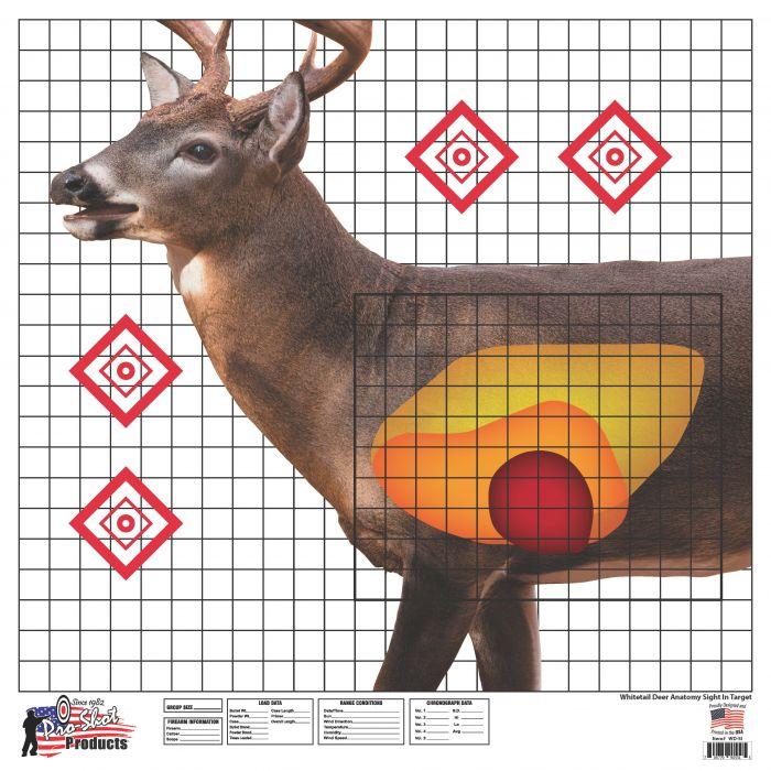 Whitetail Deer Sight In Target 25 X 25 5 Pack Wdsi 5pk
