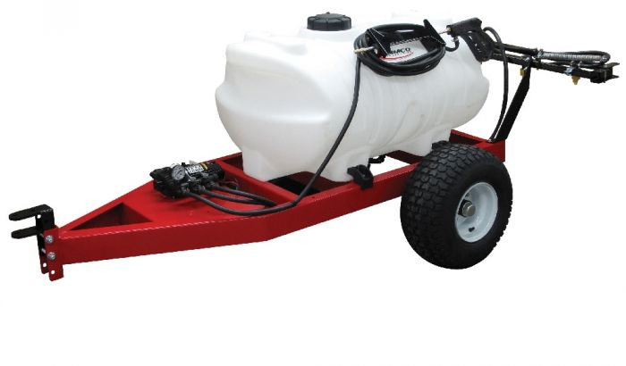 Fimco 60 Gallon lon 12 Volt Trailer Sprayer w/ Deluxe Handgun and 7 Nozzle  Boom Assembly ATVT-60-12V 5301192
