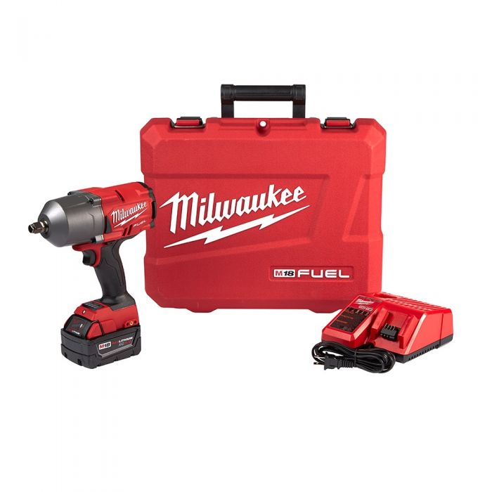 Milwaukee M18 18 Volt LithiumIon 1/2 in Brushless Cordless Mid Torque  Impact Wrench with Pin Detent Kit with 1 50Ah Battery 276721
