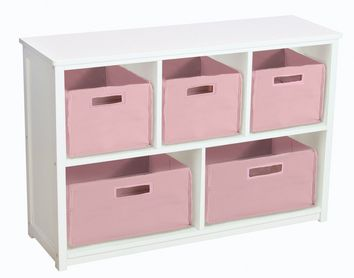 Guidecraft Classic White Bookshelf Baskets Not Included G85707