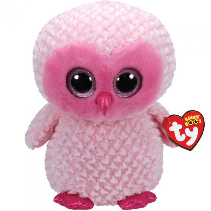TY Beanie Boo Twiggy Pink Owl Large 36858 55847326e35