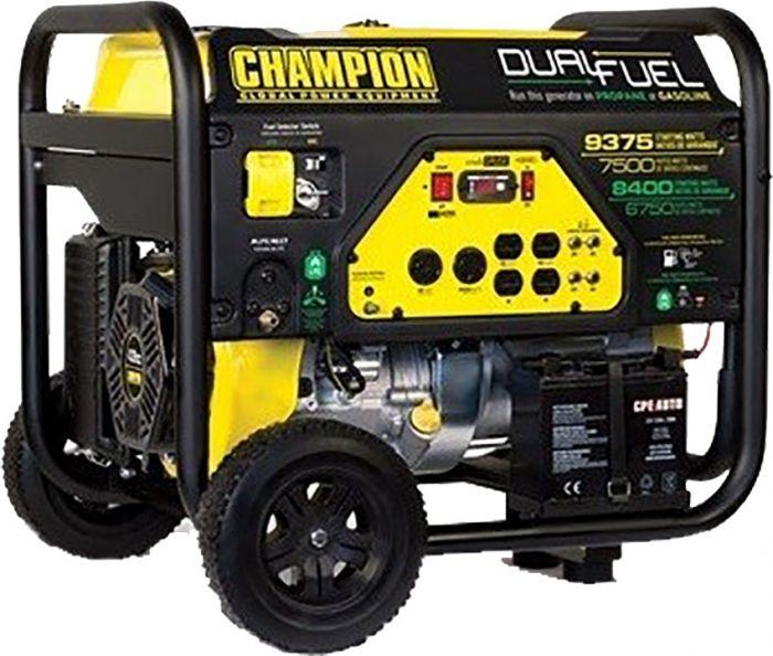 Champion 7500 9375w Dual Fuel Portable Generator